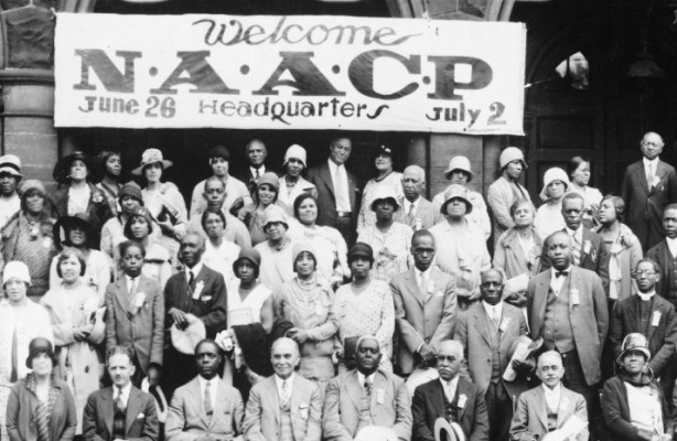 NAACP members at headquarters
