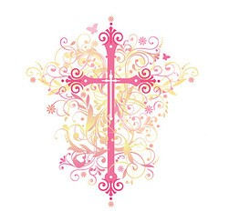 Pink Cross With Flourishes